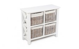 Wicker-4-Basket-Cabinet-with-Linings WW-055