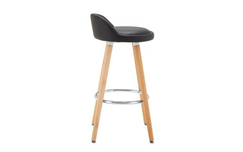 Adrian-Black-Bar-Stool-Side-View