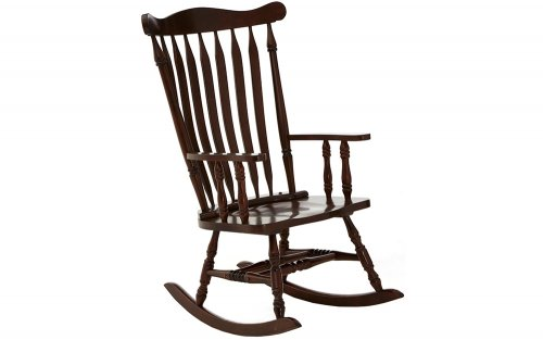 Benedict-Traditional-Espresso-Colour-Rocking-Chair-Angled-View