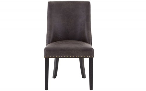 Xander-Grey-Leather-Effect-Dining-Chair-Front-View