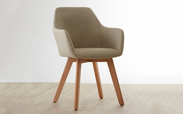 Acebo-Stone-Fabric-Chair-with-Wood-Legs-Angled-View