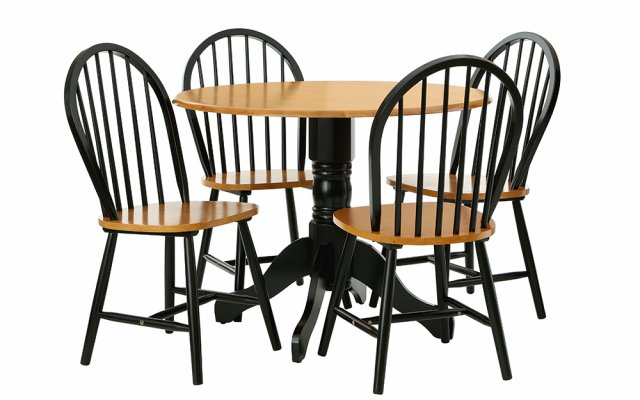 Anthony-Matt-Black-Finish-Oakland-Chair-with-Round-Table