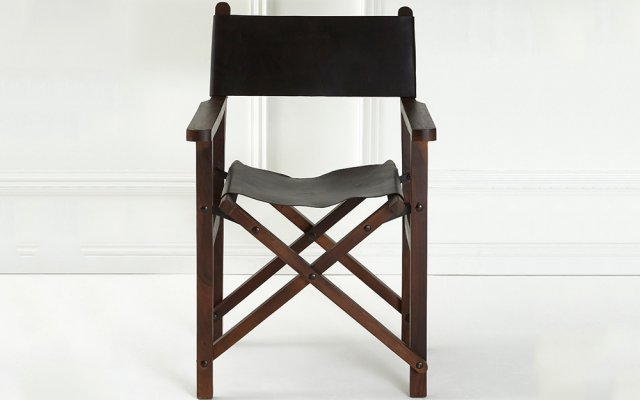 Brunel-Black-Leather-Folding-Chair