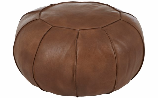 Brunel-Brown-Leather-Pouffe-Angled-View
