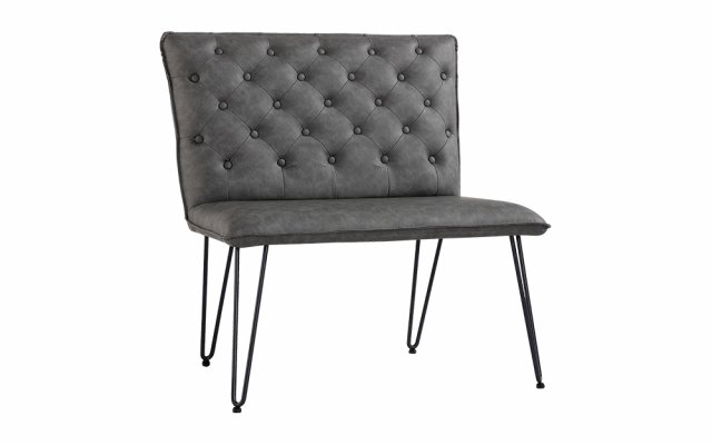 Jasper-Single-Seater-Studded-Back-Bench-with-Hairpin-Legs-in-Grey-CH20-GR
