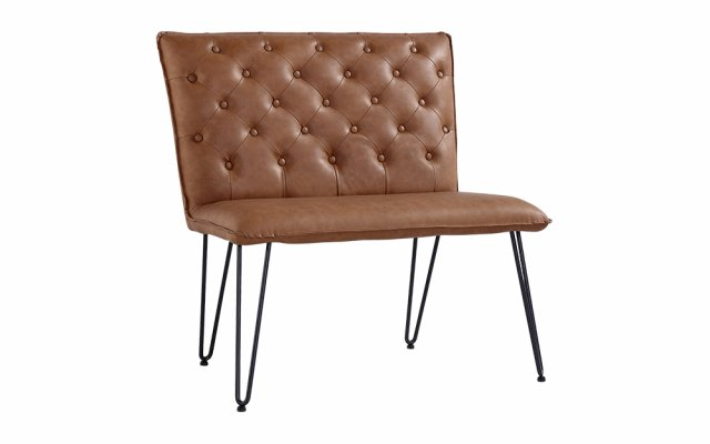 Jasper-Single-Seater-Studded-Back-Bench-with-Hairpin-Legs-in-Tan-CH20-TAN