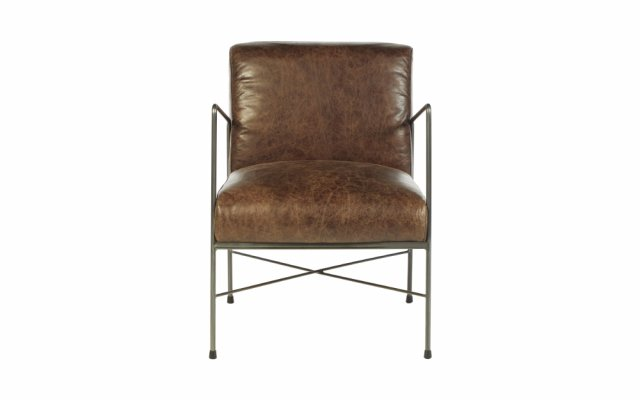 Kelso-Brown-Faux-Leather-Front-View
