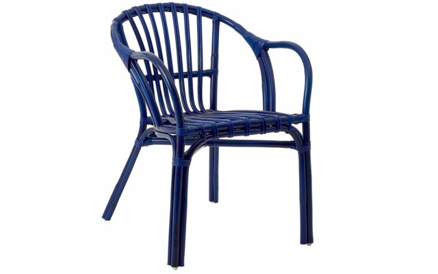 Nora-Blue-Rattan-Low-Armchair-Angled-View