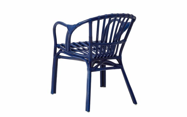 Nora-Blue-Rattan-Low-Armchair-Back-Angled-View