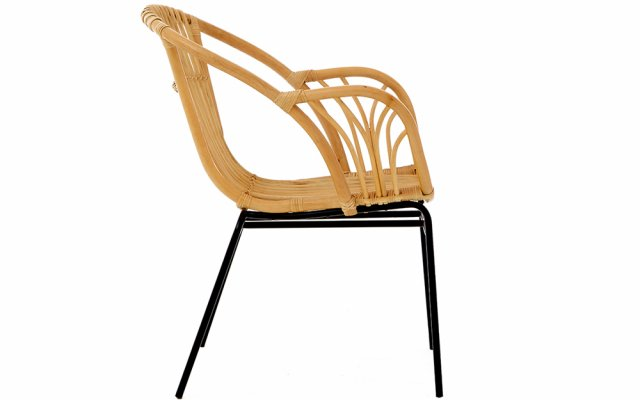 Quill-Natural-Rattan-Chair-with-Raised-Sides-Side-View