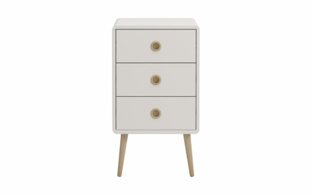 Scandi 3 Drawer Bedside Table