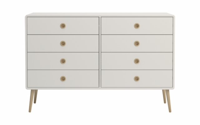 Scandi 4+4 Drawer Wide Chest