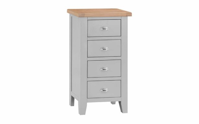 Tara-Grey-4-Drawer-Narrow-Chest