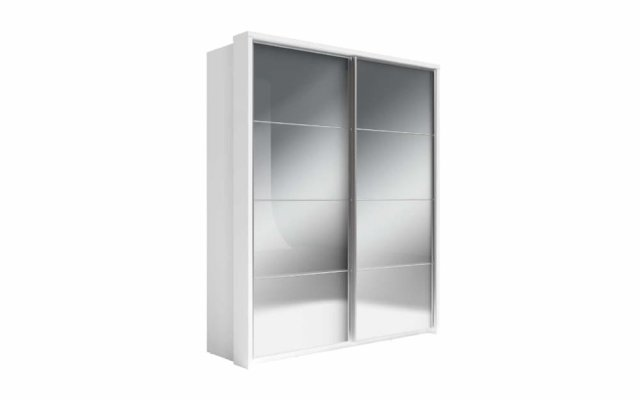 Venice sliderobe in white colour finish