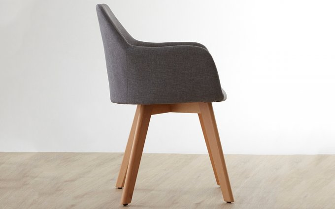 Acebo-Grey-Fabric-Chair-with-Wood-Legs-Side-View