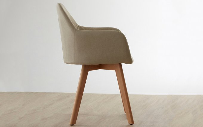 Acebo-Stone-Fabric-Chair-with-Wood-Legs-Side-View