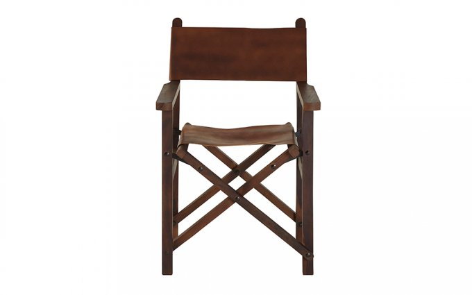 Brunel-Brown-Leather-Folding-Chair