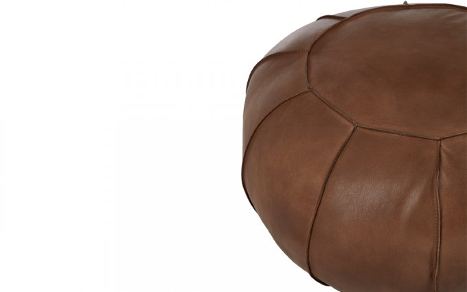 Brunel-Brown-Leather-Pouffe-Half-View