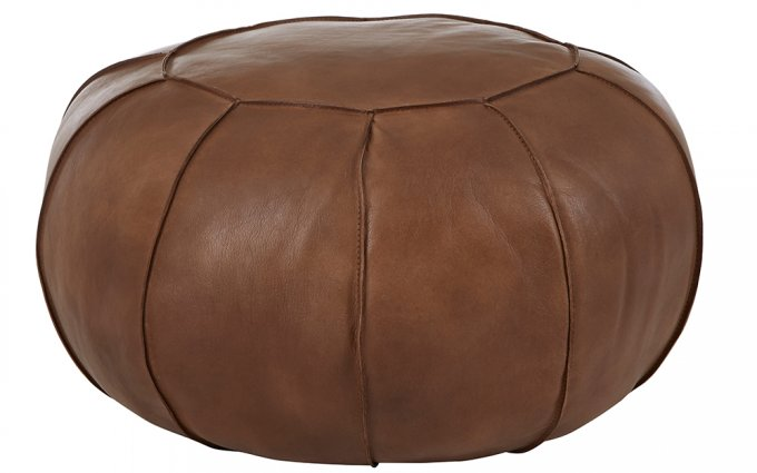 Brunel-Brown-Leather-Pouffe
