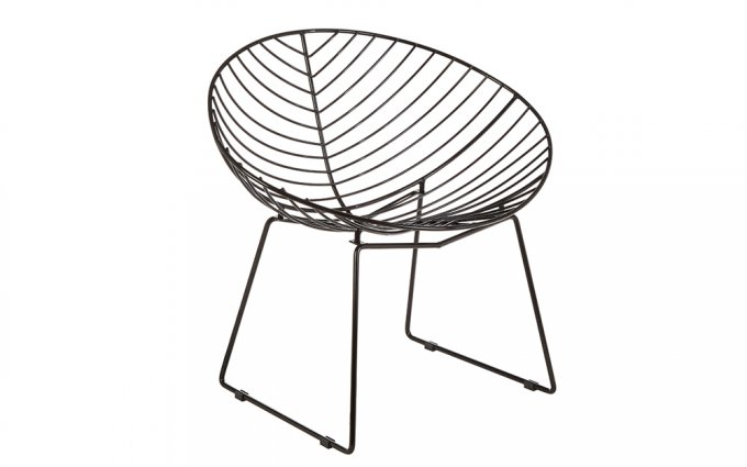 Jila-Black-Metal-Wire-Rounded-Wire-Chair-Angled-View
