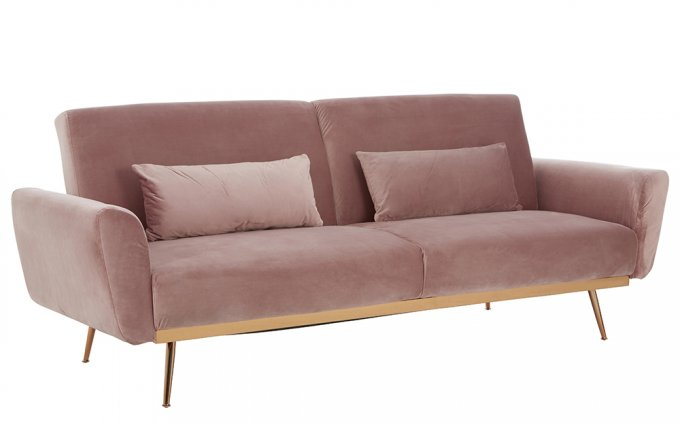 Priscilla-Pink-Velvet-Sofa-Bed-Angled-View